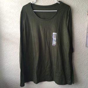 Green Semi-FITTED TEE LONG SLEEVES Juniors 19 XXL
